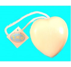 White Heart Soap-On-A-Rope